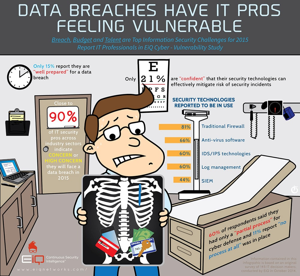 EiQ - Data Breaches Have IT Pros Feeling Vulnerable